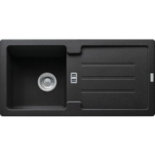 FRANKE STRATA STG 614 dřez 860x435mm s odkapávačem, Fragranit DuraKleen Plus/onyx