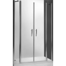 ROLTECHNIK TOWER LINE TDN2/1200 sprchové dveře 1200x2000mm dvoukřídlé pro instalaci do niky, bezrámové, stříbro/transparent