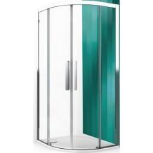 ROLTECHNIK EXCLUSIVE LINE ECR2N/1000 sprchový kout 1000x2050mm čtvrtkruhový, s dvoudílnými posuvnými dveřmi, rámový, brillant/transparent
