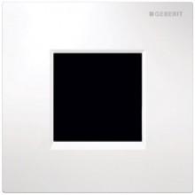 GEBERIT ovládání splachování pisoárů 13x0,8x13cm,s elektronickým ovládáním splachování, napájení ze sítě, krycí deska typ 30, bílá/pochromovaná lesklá/bílá