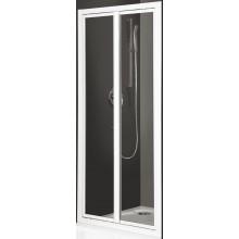 ROLTECHNIK CLASSIC LINE CDO2/850 sprchové dveře 850x1836mm dvoukřídlé pro instalaci do niky, stříbro/bark (kůra)