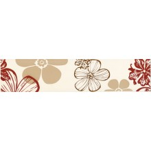 VILLEROY & BOCH MELROSE FLOWER listela 7x30cm, red-beige