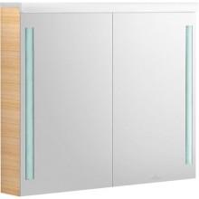 Nábytek zrcadlová skříňka Villeroy & Boch Lifetime 900x750x140mm červený lak,sametová struktura