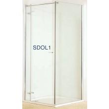Zástěna sprchová dveře Roltechnik sklo SDOL 1/900-00-02 900x2020mm BRILLANT/TRANSPARENT