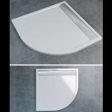 SANSWISS ILA WIR vanička 900x900x30mm čtvrtkruh, včetně sifonu a krytu, bílá/bílá