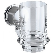 Doplněk sklenička Keuco Apollo  chrom/sklo čiré