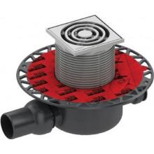 TECE DRAINPOINT S120 WG 607/RG3 podlahová vpusť DN50, s těsněním Seal System, s přírubou, nerezová ocel/plast