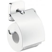 Doplněk držák toal. papíru Hansgrohe PuraVida s krytem  chrom