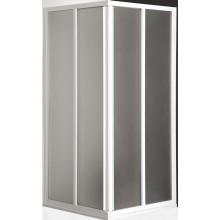 ROLTECHNIK CLASSIC LINE CS2/800 sprchový kout 800x1850mm čtvercový, s dvoudílnými posuvnými dveřmi, bílá/chinchilla