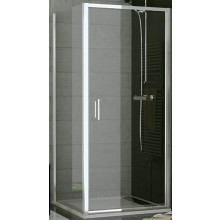 SANSWISS TOP LINE TOPF boční stěna 800x1900mm, matný elox/sklo Cristal perly