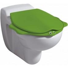 KERAMAG NOVA PRO JUNIOR dětské sedátko, s automatickým pozvolným sklápěním, motiv zvířátka, zelená 573366000