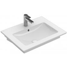 VILLEROY & BOCH VERITY LINE nábytkové umyvadlo 650x500mm, s otvorem a přepadem, bílá Alpin Ceramicplus
