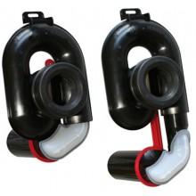 OTTO HAAS OHA sifon pisoárový DN50, výškově nastavitelný, plast, černá