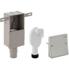 GEBERIT zápachová uzávěrka 50/56mm, pro pračku a sušičku, s krabicí pro montáž do stěny, plast/nerez