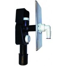 HL zápachová uzávěra DN40/50 podomítková vodní, pro pračky a myčky, nerez ocel/polyethylen