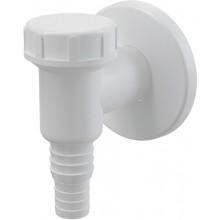 CONCEPT pračkový sifon 32mm, venkovní, bílá