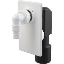 CONCEPT pračkový sifon 50mm, podomítkový, bílá