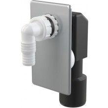 CONCEPT pračkový sifon 50mm, podomítkový, nerez