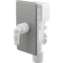 CONCEPT pračkový sifon 50/40mm, podomítkový, s přívzdušněním, nerez