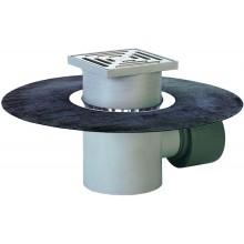 HL podlahová vpust DN75/110, s vodorovným odtokem a živičným pásem, polypropylen/nerez