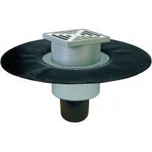 HL podlahová vpust DN50/75/100, se svislým odtokem, s asfaltovou manžetou, polyetylen/nerez