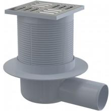 CONCEPT podlahová vpust s nerezovou mřížkou, boční 105x105/50mm