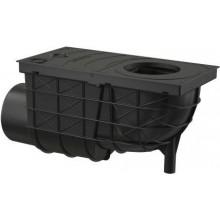 ALCAPLAST univerzální lapač 305x155mm střešních splavenin, boční vývod pr.110mm, černá