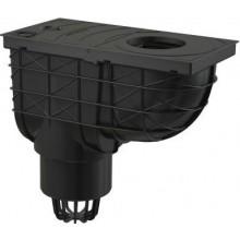 ALCAPLAST univerzální lapač 305x155mm střešních splavenin, přímý vývod pr.110mm, černá