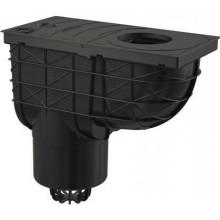 ALCAPLAST univerzální lapač 305x155mm střešních splavenin, přímý vývod pr.125mm, černá