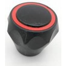 """HARTMAN rukojeť 1/2"""", k vodovodní baterii, na tisícihran, plast, černá/červená"""