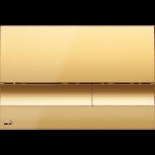 ALCAPLAST M1725 ovládací tlačítko 247x15x165mm, pro předstěnové instalační systémy, plast, zlatá