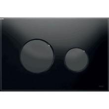 TECE LOOP ovládací tlačítko 220x150mm, dvoumnožstevní splachování, černá/sklo