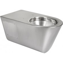 SANELA SLWN11 WC 360x700x360mm, závěsné, pro tělesně handicapované, bez sedátka, antivandal, nerez mat