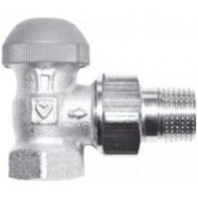 """HERZ TS-98-VHF termostatický ventil M30x1,5, 3/4"""" rohový, s plynulým přednastavením a číselnou stupnicí"""
