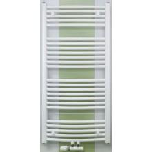 CONCEPT 100 KTOM radiátor koupelnový 843W prohnutý se středovým připojením, bílá