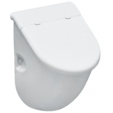 LAUFEN CASA odsávací urinál 305x285mm s otvory pro poklop, bez mušky, bílá 8.4014.1.000.000.1