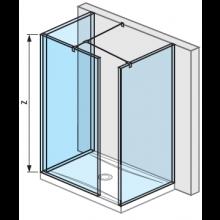 JIKA PURE walk in do prostoru 68×90 cm transparentní 2.6842.8.002.668.1