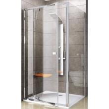 RAVAK PIVOT PPS 90 pevná stěna 870-895x1900mm, jednodílná, satin/transparent