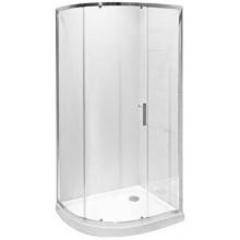 JIKA TIGO asymetrický sprchový kout 980x780x1950mm levopravá varianta, stříbrná/transparentní