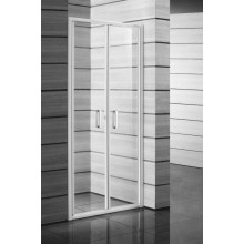 JIKA LYRA PLUS sprchové dveře 800x1900mm, pravolevé, kyvné, stripy