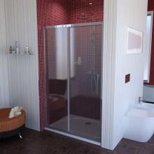 POLYSAN LUCIS LINE sprchové dveře 1100x2000mm posuvné, 2-dílné, čiré sklo antidrop/leštěný hliník