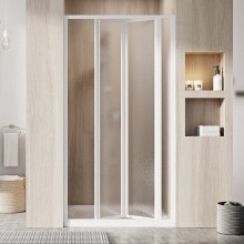RAVAK SUPERNOVA SDZ3 80 sprchové dveře 770-810x1850mm, třídílné, zalamovací, bílá/grape