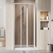 RAVAK SUPERNOVA SDZ3 90 sprchové dveře 870-910x1850mm, třídílné, zalamovací, bílá/transparent