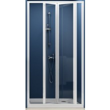 RAVAK SUPERNOVA SDZ3 90 sprchové dveře 870-910x1850mm trojdílné, zalamovací, bílá/grape