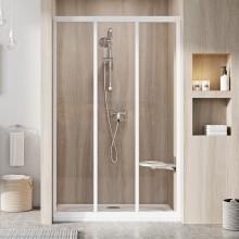 RAVAK SUPERNOVA ASDP3 100 sprchové dveře 970-1010x1880mm, třídílné, posuvné, bílá/transparent