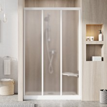 RAVAK SUPERNOVA ASDP3 120 sprchové dveře 1170-1210x1880mm třídílné, posuvné, bílá/grape