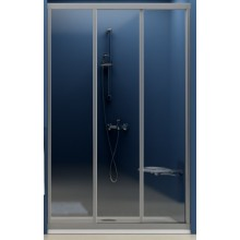 RAVAK SUPERNOVA ASDP3 130 sprchové dveře 1270-1310x1880mm třídílné, posuvné, bílá/grape