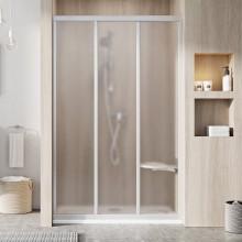 RAVAK SUPERNOVA ASDP3 100 sprchové dveře 970-1010x1880mm třídílné, posuvné, satin/grape