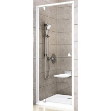 RAVAK PIVOT PDOP1 90 sprchové dveře 861-911x1900mm, jednodílné, otočné, bílá/bílá/transparent bez dekoru
