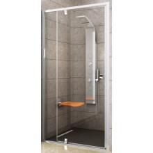 RAVAK PIVOT PDOP2 110 sprchové dveře 1061-1111x1900mm, dvojdílné, otočné, pivotové, bílá/chrom/transparent